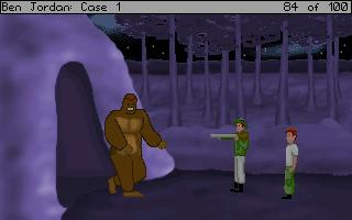 Smradlavá opice byla konečně objevena. Situace na obrázku sice vypadá, že byla také chycena a zneškodněna, ale Ben bohužel neumí dělat pravé a funkční ochranné amulety.