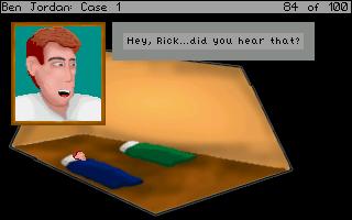 Poklidný spánek se však jako v každé správné adventuře změní v noční můru, v našem případě v noční pátrání po nečekaně zmizelém Rickovi.