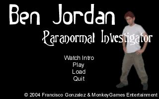 Na úvodní obrazovce prvního dobrodružství paranormálního detektiva Ben Jordana vidíte základní herní možnosti.